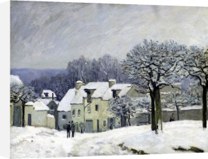 The Place du Chenil at Marly-le-Roi Snow 1876 by Alfred Sisley