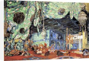 Set design for 'Scheherazade' by Rimsky-Korsakov 1916 by Leon Bakst