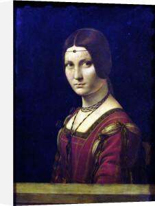 Portrait of a Lady from the Court of Milan c.1490 by Leonardo da Vinci