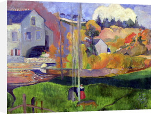 Brittany Landscape' the David Mill 1894 by Paul Gauguin