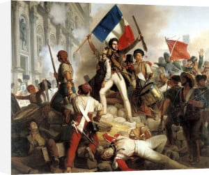 Fighting at the Hotel de Ville 1833 by Jean Victor Schnetz