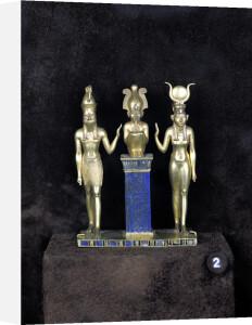 Osiris Horus Isis - The Triad of Osorkon II reign of Osorkon II by Egyptian Art