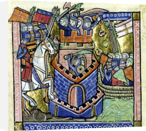 Tyre being blockaded by the Venetian fleet and beseiged by Crusader knighthood by William of Tyre