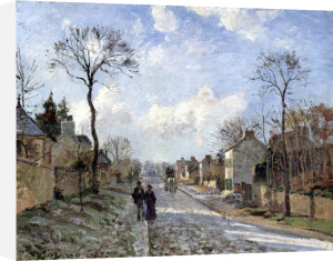 The Road to Louveciennes 1872 by Camille Pissarro