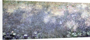 Waterlilies' Two Weeping Willows (centre right section) 1914 by Claude Monet