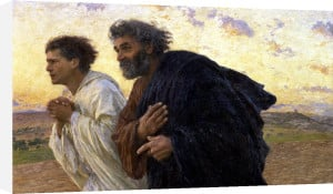 The Disciples Peter and John c.1898 by Eugene Burnand