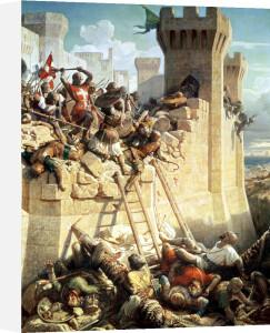 Guillaume de Clermont defending Ptolemais 1845 by Dominique Louis Papety