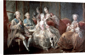 The Penthievre Family 1768 by Jean Baptiste Ange Charpentier