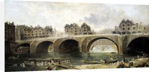 Demolition of the Houses on the Notre-Dame Bridge c.1786 by Hubert Robert