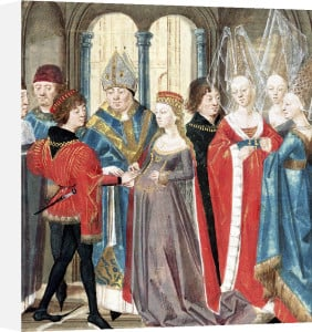 The Marriage of Philippe Auguste King of France by French School