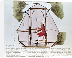 The Flying Machine of Jean Pierre Blanchard by Francois Nicolas Martinet