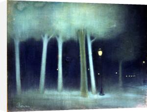 A Park at Night c.1892 by Jozsef Rippl-Ronai