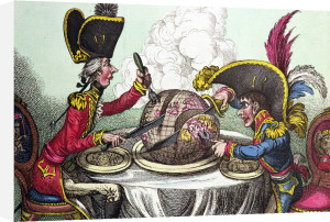 The Plum Pudding in Danger 1805 by James Gillray
