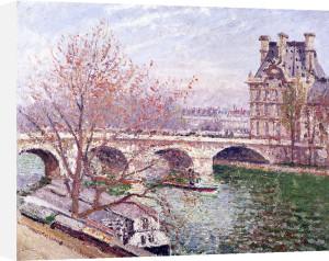 The Pont-Royal and the Pavillon de Flore 1903 by Camille Pissarro