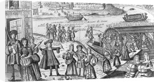 The Sad Embarkation of the Prostitutes of Paris by French School