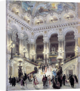 The Staircase of the Opera 1877 by Louis Beroud