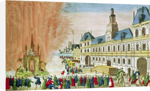 Fireworks in front of the Hotel de Ville in Paris by French School
