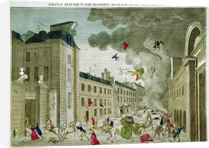 The Attempted Assassination of Napoleon Bonaparte by French School