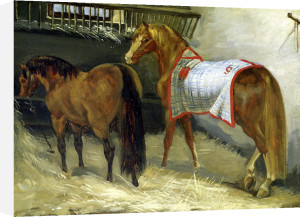 Horses in the Stables by Jean-Louis-André-Théodore Géricault