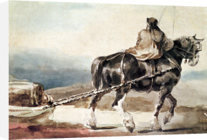 The Stagecoach by Jean-Louis-André-Théodore Géricault