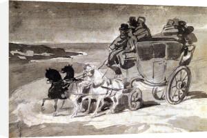 The Barge Horse by Jean-Louis-André-Théodore Géricault