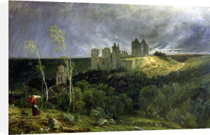 The Ruins of Chateau de Pierrefonds 1861 by Paul Huet