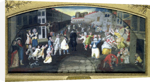 Street Performers at the Carnival Populaire c.1670 by French School