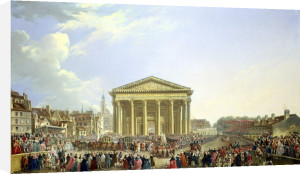Ceremony of Laying the First Stone of St. Genevieve 1764 by Pierre Antoine Demachy