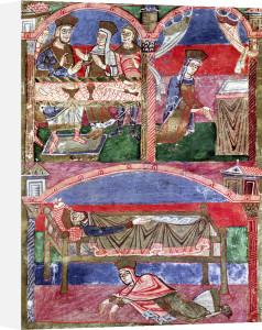St. Radegund at the table of Clothar I by French School