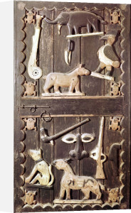 Door of the Royal Palace of Abomey Benin by African Art