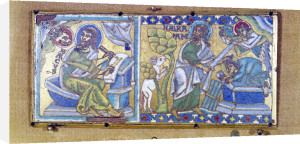 Plaque depicting St. Mark and the Sacrifice of Abraham by French School