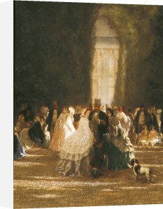 The Garden of the Tuileries during the Second Empire by French School