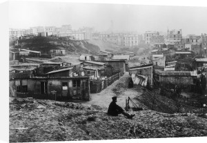 Rue Champlain a group of huts 1858 by Charles Marville