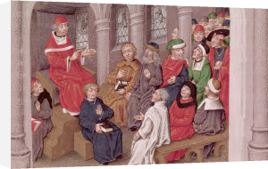 Jean de Gerson preaching the Passion after dinner at the Church of St. Bernard by French School