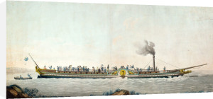 The Charles-Philippe the first steamboat launched on the Seine 1816 by Philibert Louis Debucourt