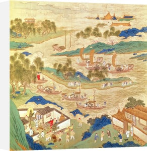 Emperor Hui Tsung transporting stones and trees by China
