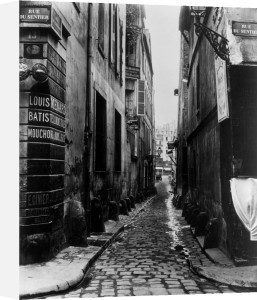 Rue du Croissant from the Rue du Sentier Paris 1858 by Charles Marville
