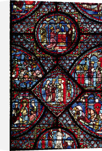 Window depicting scenes from the Life of Charlemagne by French School