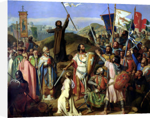 Procession of Crusaders around Jerusalem 1841 by Jean Victor Schnetz