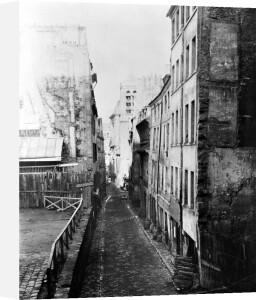 Rue Saint-Nicolas-du-Chardonnet Paris 1858 by Charles Marville