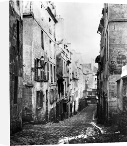 Rue Fresnel from the dead end of Versailles Paris 1858 by Charles Marville