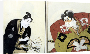 Portraits of Two Actors 1803 by Utagawa Toyokuni