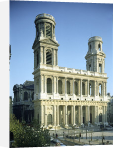 View of the facade of the Church of Saint-Sulpice by French School