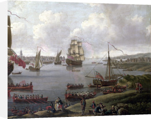 View of the Thames 1761 by English School