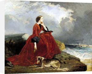 Empress Eugenie at Biarritz 1858 by E. Defonds