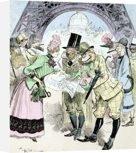 The Opening of the Universal Exhibition of 1889 from 'La Caricature' by Albert Robida