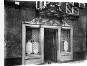 Entrance of a brothel in Paris 106 rue de Suffren c.1900 by Eugene Atget