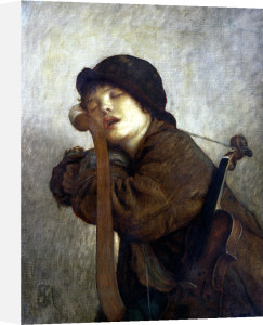 The Little Violinist Sleeping 1883 by Antoine Auguste Ernest Herbert