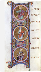 Historiated initial 'I' depicting the beginning of the Gospel of St. John by French School
