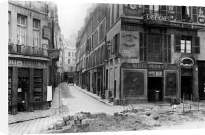 Rue Maitre Albert Paris 1858 (II) by Charles Marville